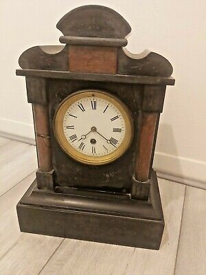 £65 • Buy Antique/19th Century, French Mantle Clock, Slate And Marble