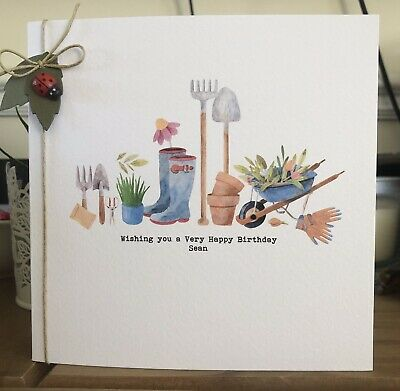 £3.90 • Buy Personalised Male Birthday Card Gardening Grandad Dad Uncle Brother 70TH 80TH