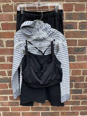 $ CDN41.23 • Buy Lululemon Lot Of 4: Bra, Tank, Reversible Top & Pant Size 10