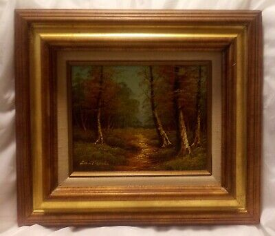 $ CDN332.63 • Buy Vintage Cantrell Painting Golden Pathway Mid Century Modern 8 X 10 Framed