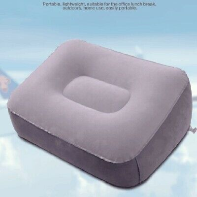 AU10.82 • Buy Soft Footrest Pillow PVC Inflatable Foot Rest Pillow Cushion Air Travel Offic TS