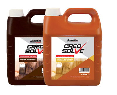 £10.99 • Buy Creocote Creosolve Oil Based Timber Shed Fence Trellis Stain Creosote 4 Litre