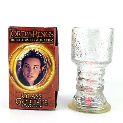 £18.18 • Buy Lord Of The Rings Fellowship Of The Ring Glass Goblets Arwen Burger King New