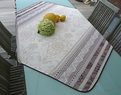 £15.08 • Buy Tablecloth Provence 120x120 CM Cream Grey From France Easy-Care Non-Iron