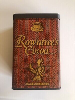 £12.99 • Buy Antique Collectors Advertising Rowntree's Cocoa  Empty Tin 6,5x9,5x10cm