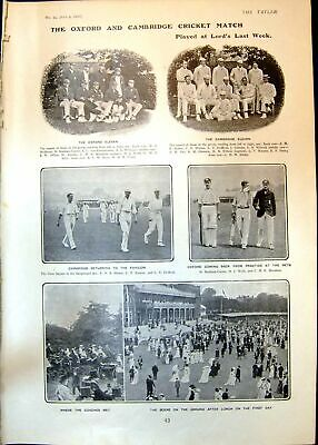 Old Oxford Cambridge Cricket Match Meet Coaching Club Hyde Park 1902 20th • 29.14£