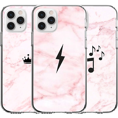 AU16.95 • Buy Silicone Cover Case Cute Pattern Lightning Bolt Music Note Crown Queen Girl Sign