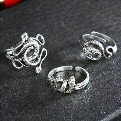 £6.51 • Buy Ring Men Silver Snake Natural Born Killers Double Head Thai Silver