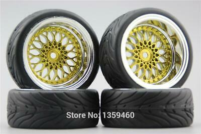 $ CDN27.49 • Buy 4x 1/10 BBS BMW Gold RC Soft Rubber On Road Wheel Tyre Tire 3mm 6mm 9mm Offset