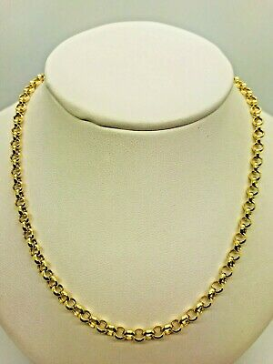 £250 • Buy 9ct Yellow Solid Gold Round Belcher Chain - 4.0mm - 20  ****CHEAPEST ON EBAY****