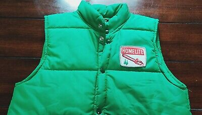 £93.74 • Buy VTG Size Small Homelite Chainsaw Swingster Vest USA Made 70's 80s Sewn On Patch