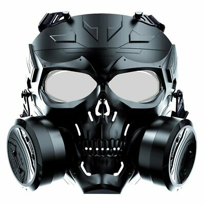 $38.91 • Buy Airsoft Paintball Tactical Mask Full Face Dual Exhaust Fan Protective Military