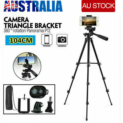 AU13.85 • Buy Professional Camera Tripod Stand Mount Remote W/ Phone Holder For IPhone Samsung