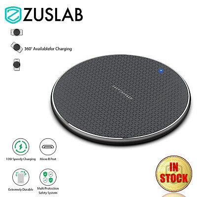 AU8.99 • Buy 10W Universal QI Wireless Charger Charging Pad For IPhone 12 11 Pro Max Samsung