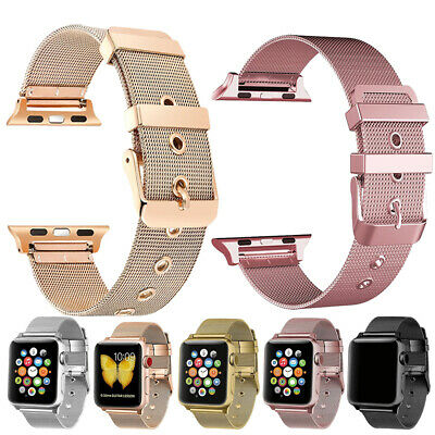 AU10.99 • Buy For Apple Watch IWatch Band Series 6 5 4 3 2 1 SE Milanese Stainless Steel Strap