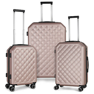 "View Details Set Of 3 Suitcase 20"" 24"" 28"" With Spinner Wheels Luggage Lightweight For Travel • 102.99$"