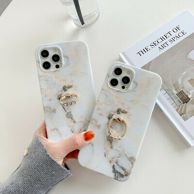 AU6.43 • Buy Case For IPhone 12 Mini 11 Pro Max SE XS X XR 8 7 + Marble Ring Stand Soft Cover