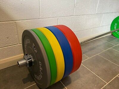 £850 • Buy Full Olympic Weights Weights Set Rubber Bumper Plates 150kg + Commercial Bench