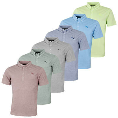 AU35.99 • Buy Puma Golf Mens Oxford Heather DryCELL Short Sleeve Polo Shirt Top 47% OFF RRP