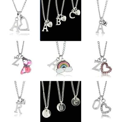 £3.50 • Buy Personalised Silver Plated Letter Alphabet Initial  A-Z Necklace 18  Heart