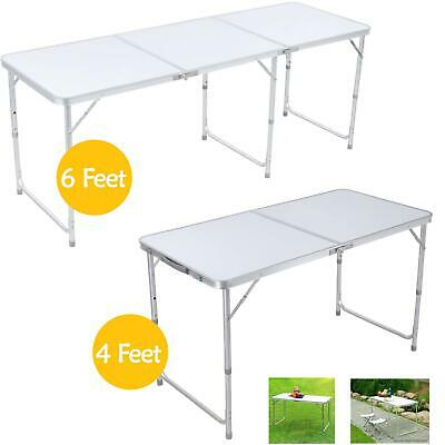 £28.99 • Buy 4ft-6ft Portable Folding Camping Table Aluminium Picnic Adjustable Party Bbq