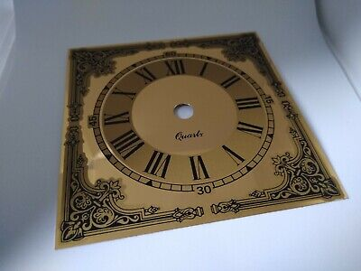 £7 • Buy NEW - 5 1/2  13cm Chapter Ring On Square Clock  Dial Face Gold / Brass Finish