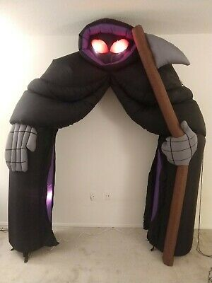 $ CDN151.18 • Buy Gemmy Airblown Grim Reaper Lighted Archway Halloween Inflatable 8Ft Tall