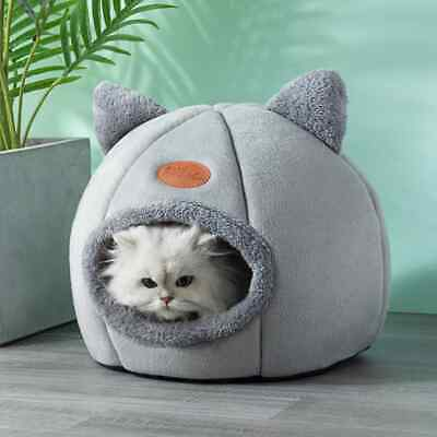 £8.59 • Buy Cat Small Dog House Bed Kitten Pet Igloo Box Cave Puppy Sleeping Cozy Hut Kennel