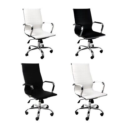 AU109.99 • Buy Office Chair Gaming Chair Home Work Study PU Mat Seat High-Back Computer Black