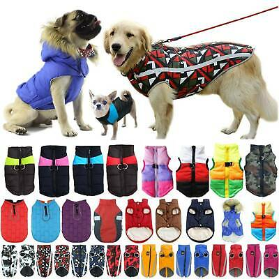 Winter Warm Outdoor Dog Pet Coats Clothes Padded Vest Jacket Waistcoat Casual • 4.29£