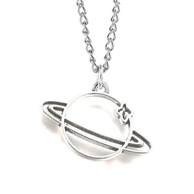 £2.50 • Buy Planet Star Necklace Silver Plated 18  Pendant Adjustable