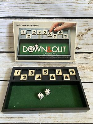 £6.99 • Buy Down And Out Vintage Board Dice Game In Good Condition Shut The Box Type