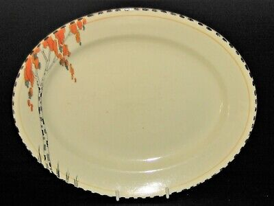 £10 • Buy Antique Burgess & Leigh Art Deco Burleigh Ware Small Meat Serving Plate Platter