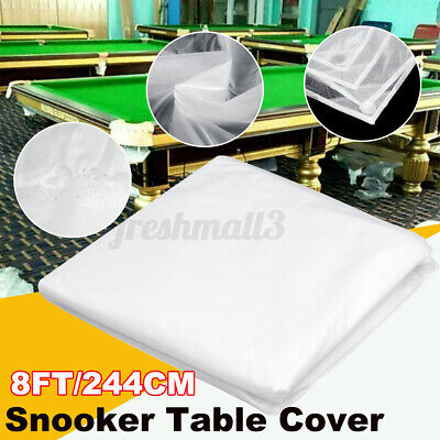 AU14.99 • Buy 8FT Waterproof White Economic Pool Snooker Table Cover Oxford Cloth Dustproof