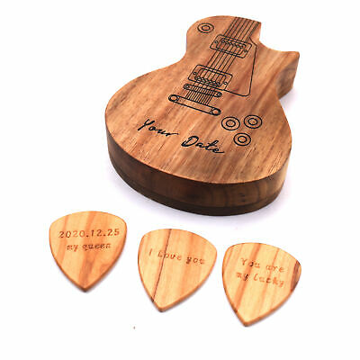 $ CDN17.06 • Buy 3 Pcs Wooden Guitar Picks With Box Wood Picks For Acoustic Electric Guitars Y5G3