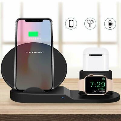 AU23.95 • Buy 3in1 Qi Wireless Charger Fast Dock Stand For Apple Watch 6 IPhone 11 XS 8 SE S21