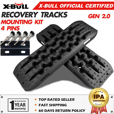 AU96.90 • Buy X-BULL Recovery Tracks Boards Mounting Kit Mud Sand Grass Tracks 1 Pair 4WD 4X4