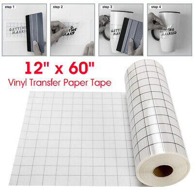 £8.99 • Buy Vinyl Transfer Paper Tape Roll Cricut Adhesive 12in X 5FT Clear Alignment Grid