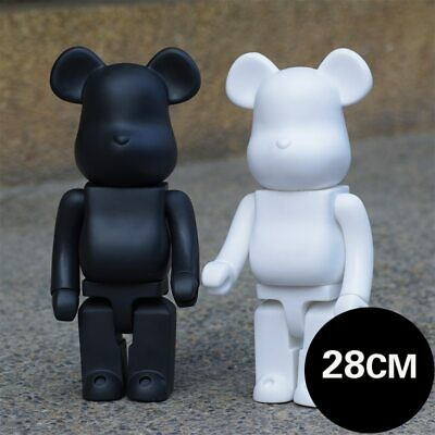 $28.49 • Buy 2PC White And Black 400% Bearbrick DIY Paint PVC Action Figure Collection