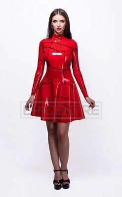 £79 • Buy Rockabilly Long Sleeve Latex Rubber Dress. Easy-On (Chlorinated)
