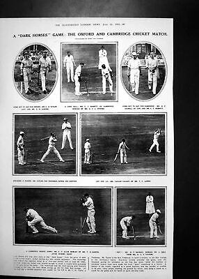 Antique Print Oxford Cambridge Cricket Match Discoveries Qua -El-Kebir 1923 • 24£