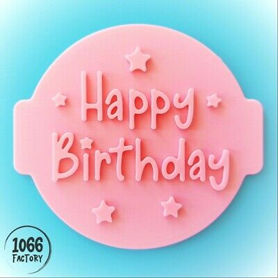 £4.95 • Buy Happy Birthday Embosser / Stamp For Fondant / Cupcake / Cake / Cookie  Cutter