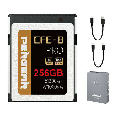 AU269 • Buy PERGEAR CFE Type-B Memory Card With Reader Up To 1300MB/s 256GB For Photos