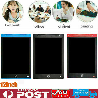 AU13.91 • Buy 12  Electronic Digital LCD Writing Tablet Drawing Board Graphics Kids Gifts AU .
