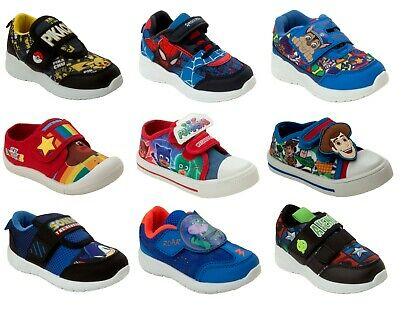 £15.95 • Buy Boys Official Branded Character Casual Walking Trainers Infant Kids Uk Size 5-2