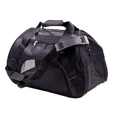 £11.99 • Buy Large Pet Dog Cat Puppy Travel Carry Carrier Tote Cage Bag Crates Kennel Black