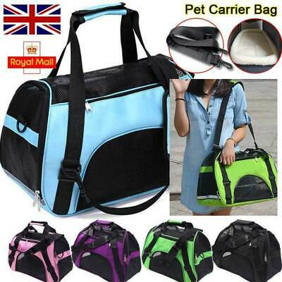 £8.65 • Buy Pet Dog Cat Puppy Portable Travel Carry Carrier Tote Cage Bag Crates Kennel UK
