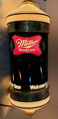 $349 • Buy 1984 Miller High Life Beer Motion Bouncing Ball Rotating Light Sconce Sign 15.5