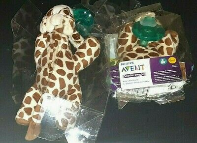 AU18.81 • Buy Philips Avent Soothie Snuggle Giraffe With Pacifier Baby Lot Of 2 Damaged Box C5