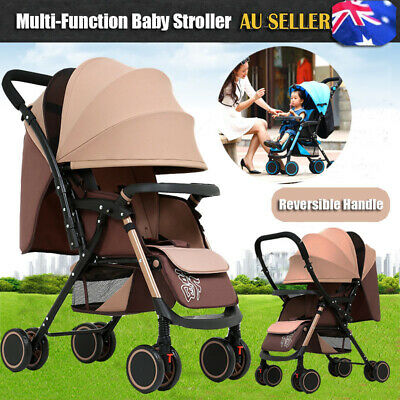 AU88.99 • Buy 2021 Reversible Stroller Lightweight Compact Baby Pram Travel Carry-on Pushchair